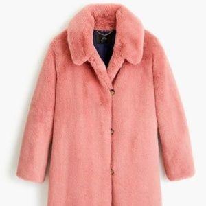 J.Crew Faux-fur Coat in Ash Rose
